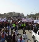 صور | مسيرة حاشدة لابناء محافظة الحديدة تنديدا بإغلاق ميناء الحديدة والحصار الجائر