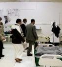 الاطئمنان على أحوال الجرحى بهيئة مستشفى ذمار العام